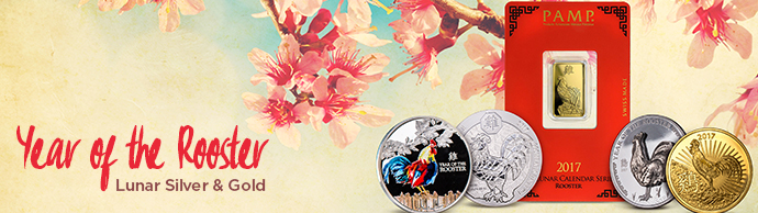 year of the rooster lunar year coins