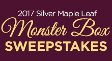 2017 Maple Leaf Monster Box Sweepstakes