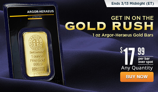 1 oz Argor-Heraeus Gold Bar