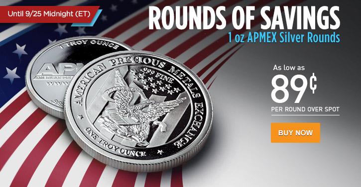 1 oz APMEX Silver Rounds
