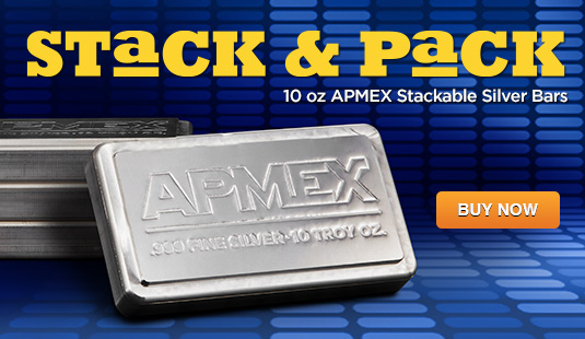 10 oz APMEX Stackable Silver Bar