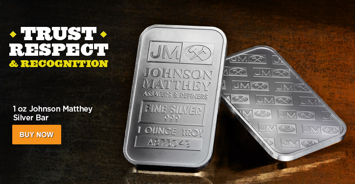 1 oz Johnson Matthey Silver Bars