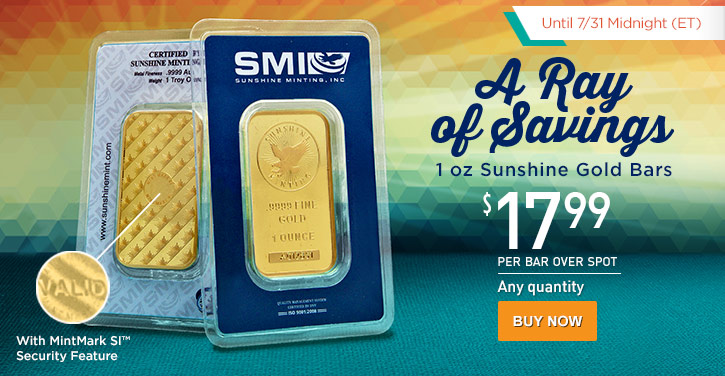 1 oz Sunshine Gold Bars