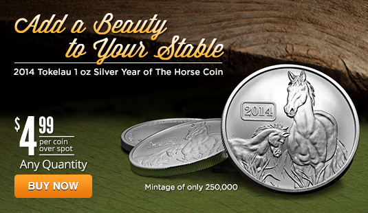 Tokelau 2014 1 oz Year of the Horse