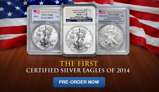 2014 Certified Silver American Eagles