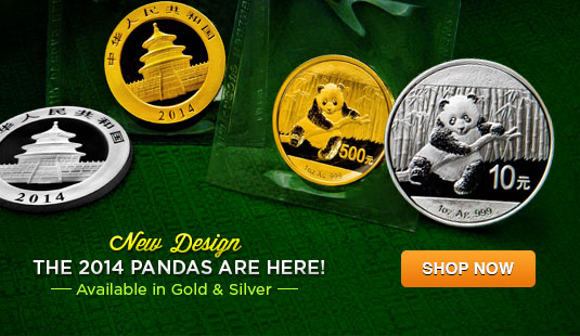 2014 Gold and Silver Chinese Pandas