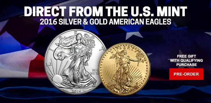 2016 Silver & Gold Eagles Pre-sale