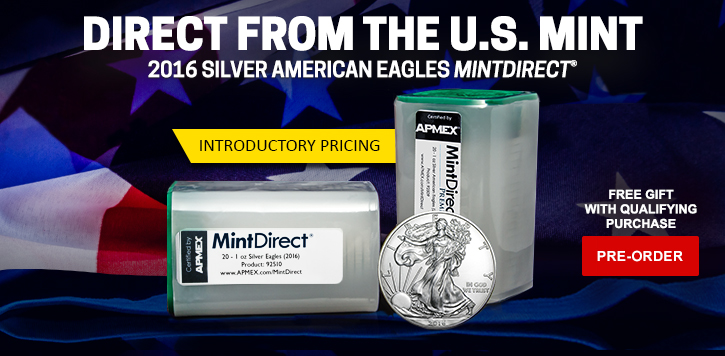 2016 Silver Eagle MintDirect Pre-sale