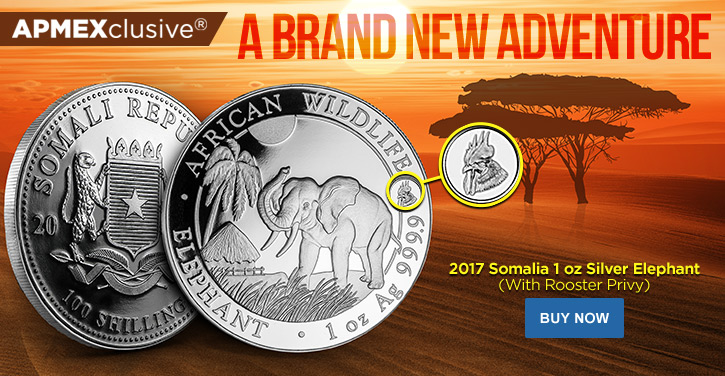 2017 Silver Elephants with Rooster Privy