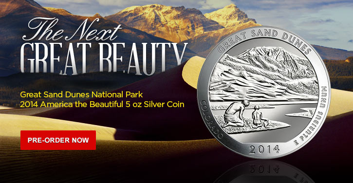 2014 America The Beautiful - 5 oz Silver Bullion
