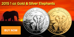 2015 Gold and Silver Elephants (M)
