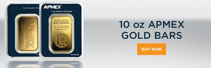 10 APMEX Gold Bars (In TEP)