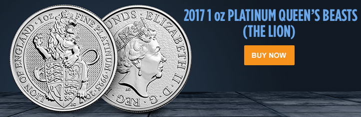 2017 1 oz Platinum Queen's Beasts (The Lion)