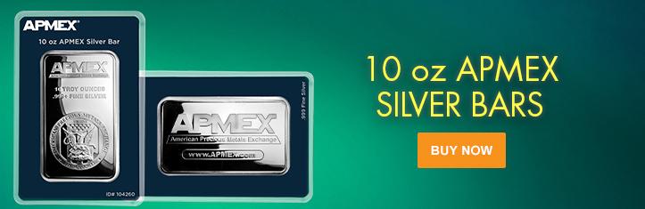 10 oz APMEX Silver Bars (In TEP)