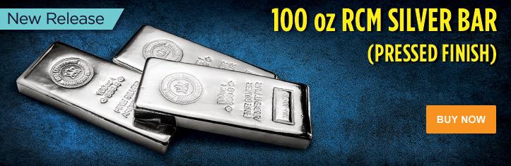 100 oz RCM Silver Bars