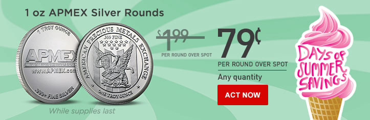 Daily Deal - 1 oz Silver APMEX Rounds