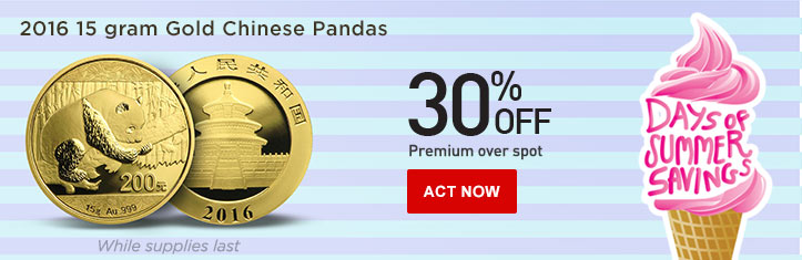 Daily Deal - 15 gram Chinese Gold Panda