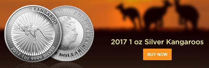 2017 1 oz Silver Kangaroos