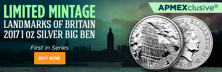 2017 1 oz Silver Landmarks of Britain (Big Ben)