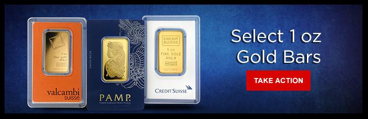 Select 1 oz Gold Bars