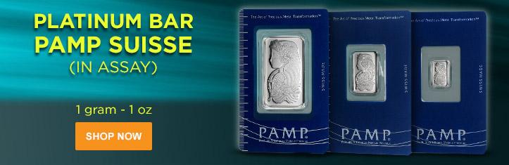 PAMP Suisse Platinum Bars (In Assay)