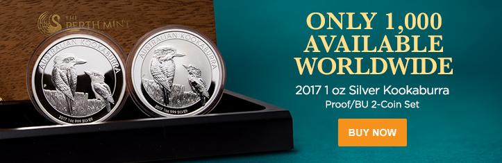 2017 1 oz Silver Kookaburra 2-Coin Set