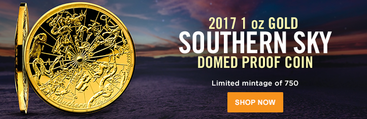 2017 Gold Southern Sky Domed Proof Coin