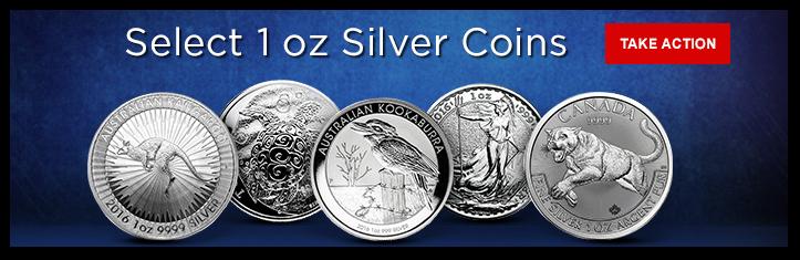 Select 1 oz Silver Coins