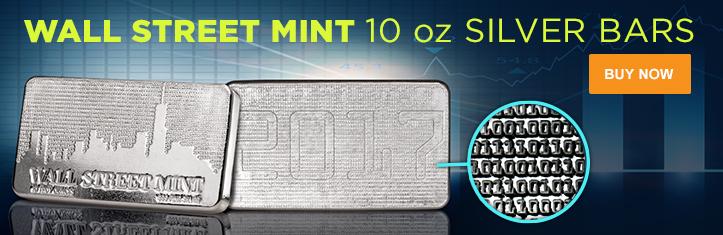 10 oz Wall Street Mint® Silver Bars