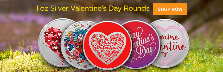 Valentine's Day Silver Rounds