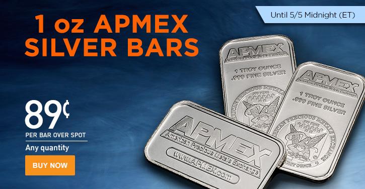 APMEX 1 oz Silver Bars