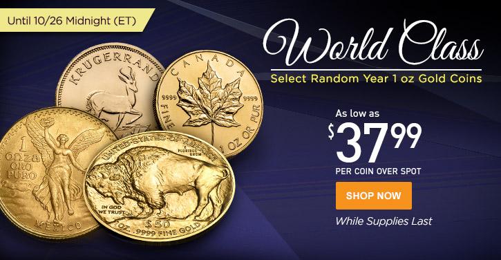 Random Year 1 oz Gold Coins