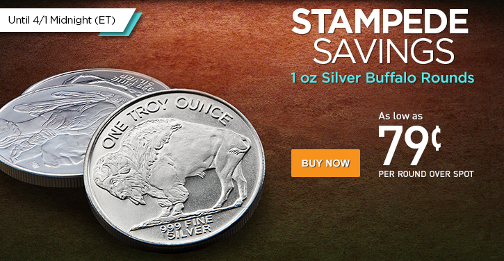 1 oz Silver Buffalo Rounds