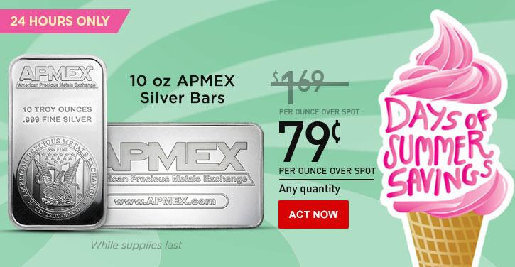 10 oz APMEX Silver Bars