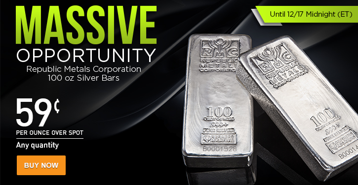 100 oz RMC Silver Bars