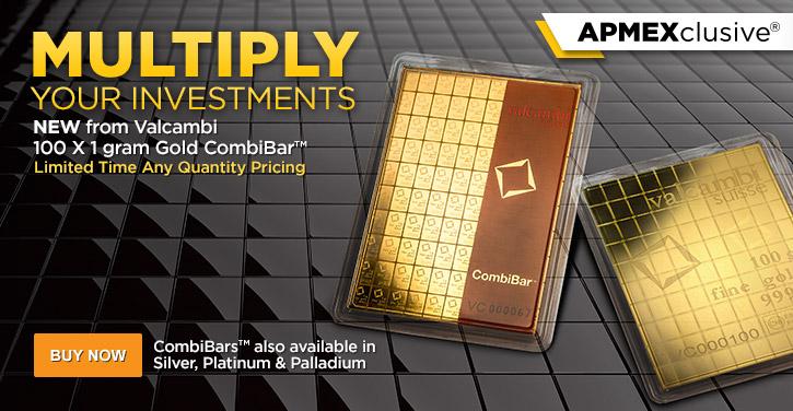 100 x 1 gram Valcambi Gold Bar