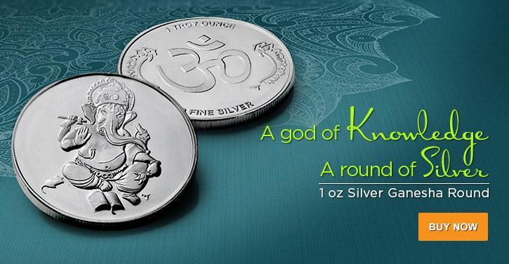1 oz Silver Ganesha Rounds