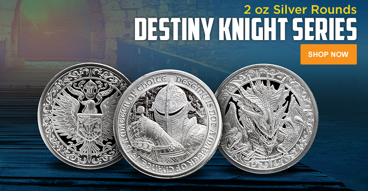 2 oz Silver Destiny Knights