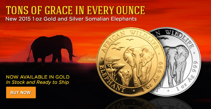 2015 1 oz Somalian Elephants