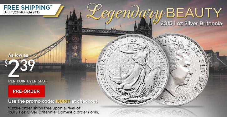 2015 1 oz Silver Britannia pre-sale