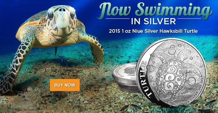 2015 1 oz Silver Hawksbill Turtle