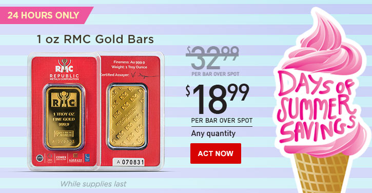 Daily Deal - 1 oz Gold RMC Bars