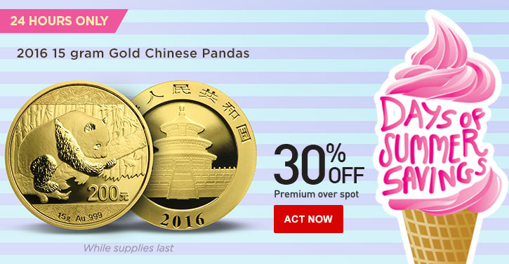 Daily Deal - 15 gram Chinese Gold Panda