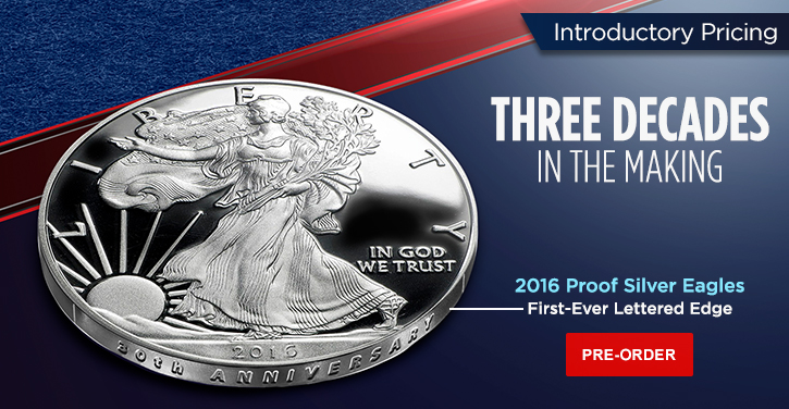 2016 Proof Silver Eagles