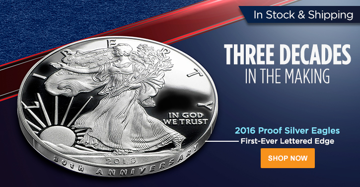 2016 Proof Silver Eagles - In Stock