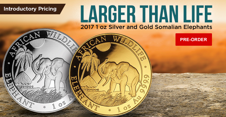 2017 Gold and Silver Elephants