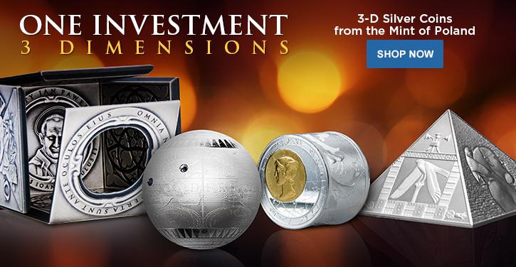 3-D Silver Coins