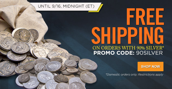 90% Silver Free Shipping
