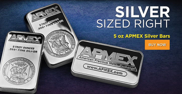 5 oz APMEX Silver Bars