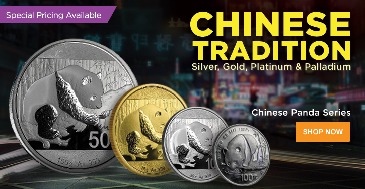 Gold, Silver, Platinum and Palladium Pandas